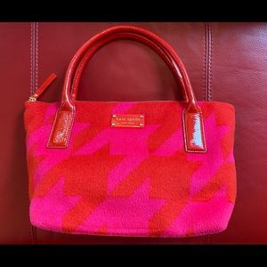Kate Spade wool/cashmere & patent leather purse